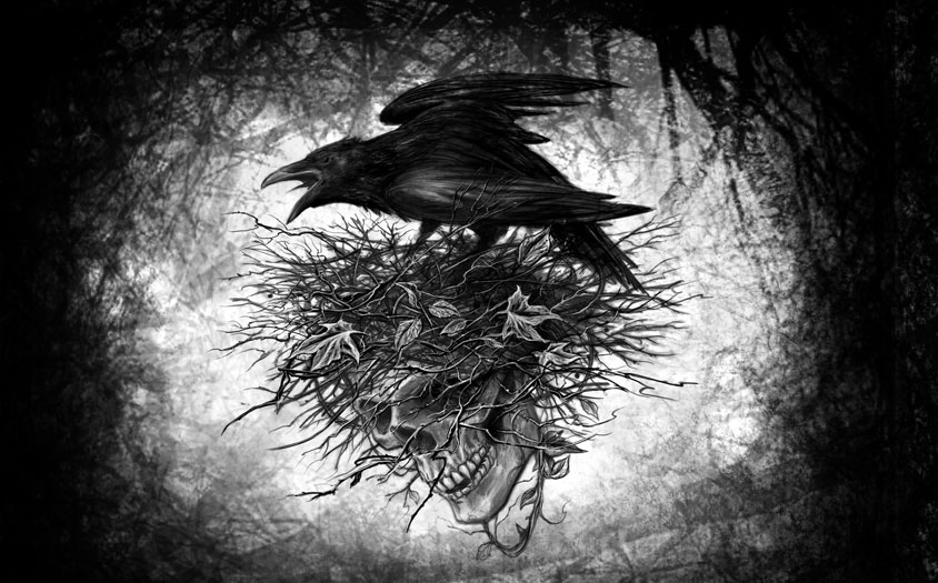 Картинки с вороном со смыслом, ангелина открытка первым
