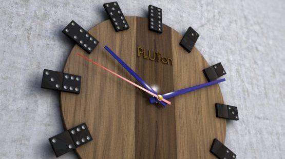 Часы - домино.