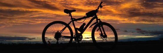 Закат с велосипедом