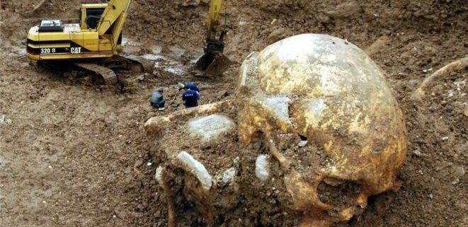 Скелет исполина